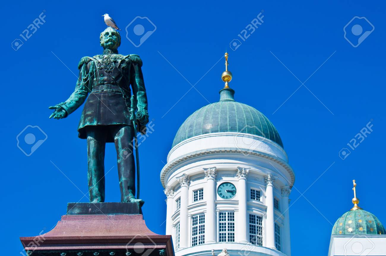 view of the senate square with the cathedral in Helsinki Stock Photo - 11534543