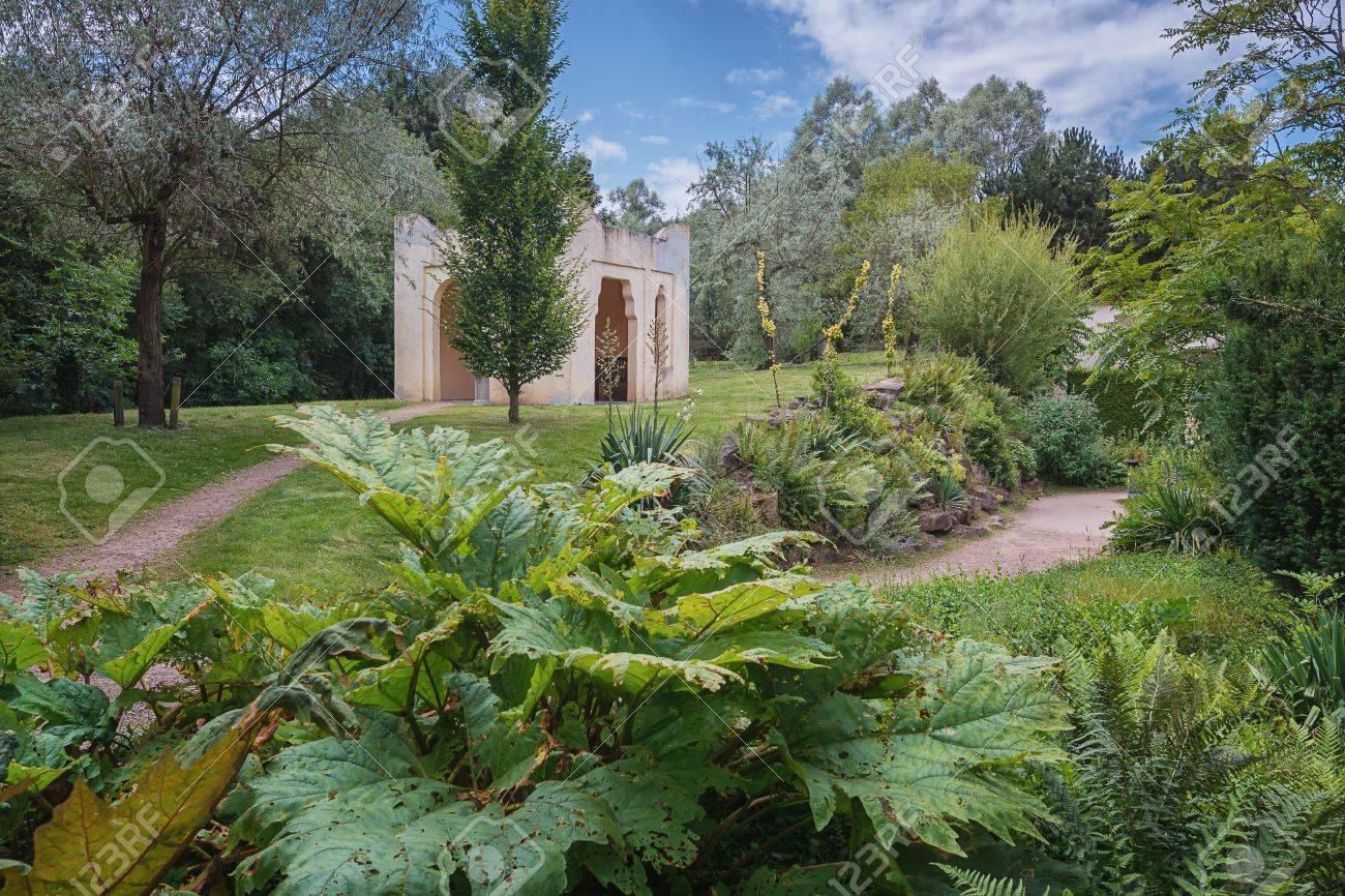 Moroccan Garden Copy In The Park Mondo Verde Netherlands Stock
