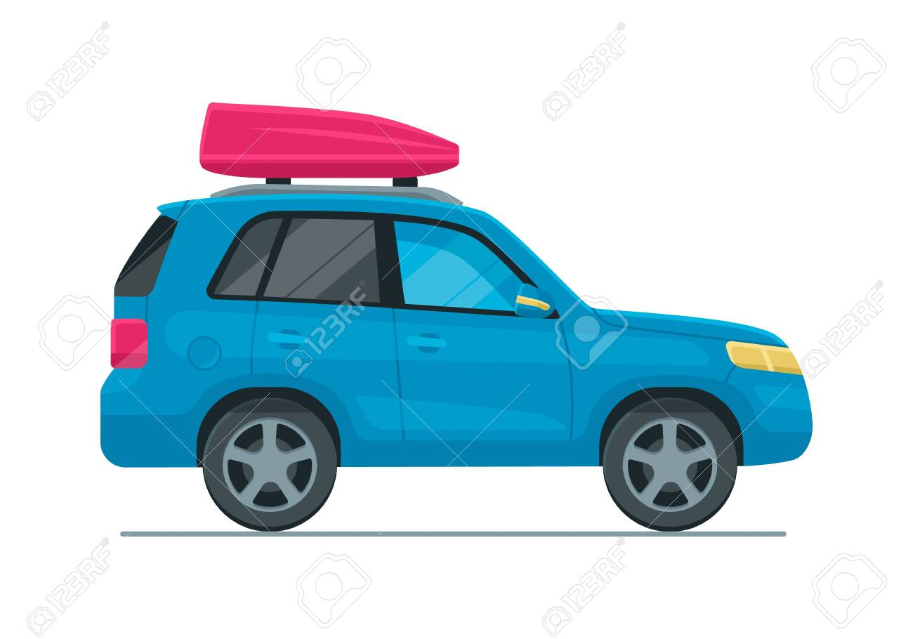 Vector Isolated Vector Cuv Car In Flat Design Style Family Travel Royalty Free Cliparts Vectors And Stock Illustration Image 141463615