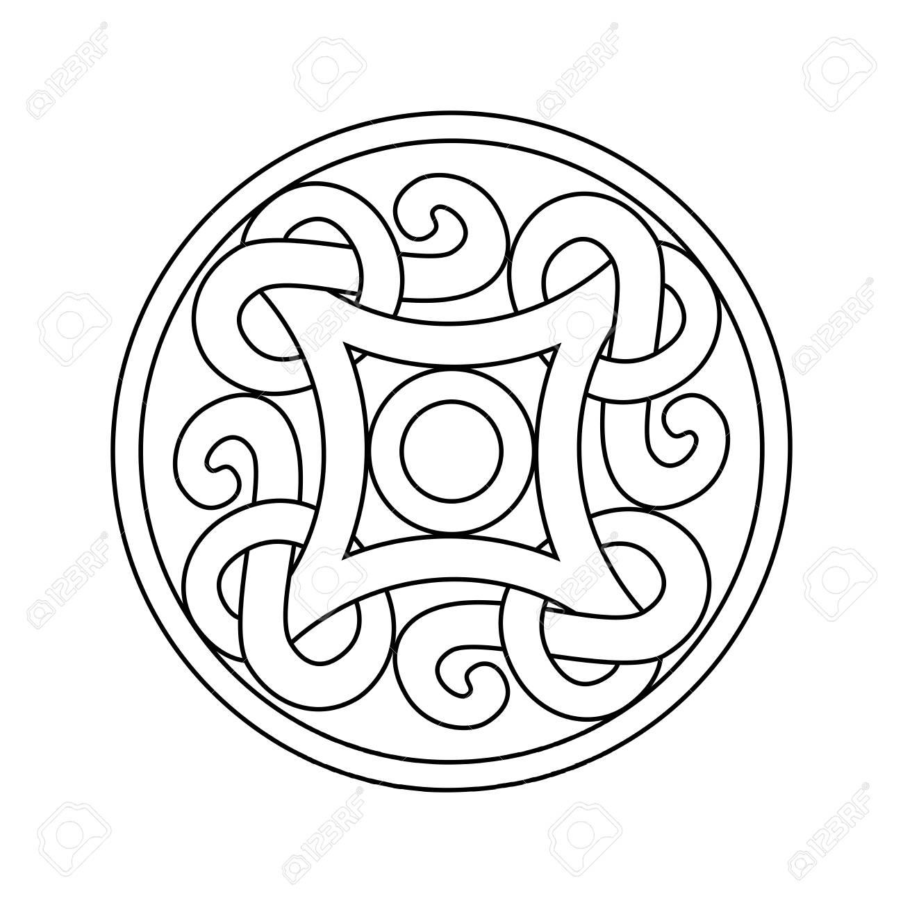 Ornamento Antiguo Vikingo En Un Estilo Gráfico. Vector Diseño De ...