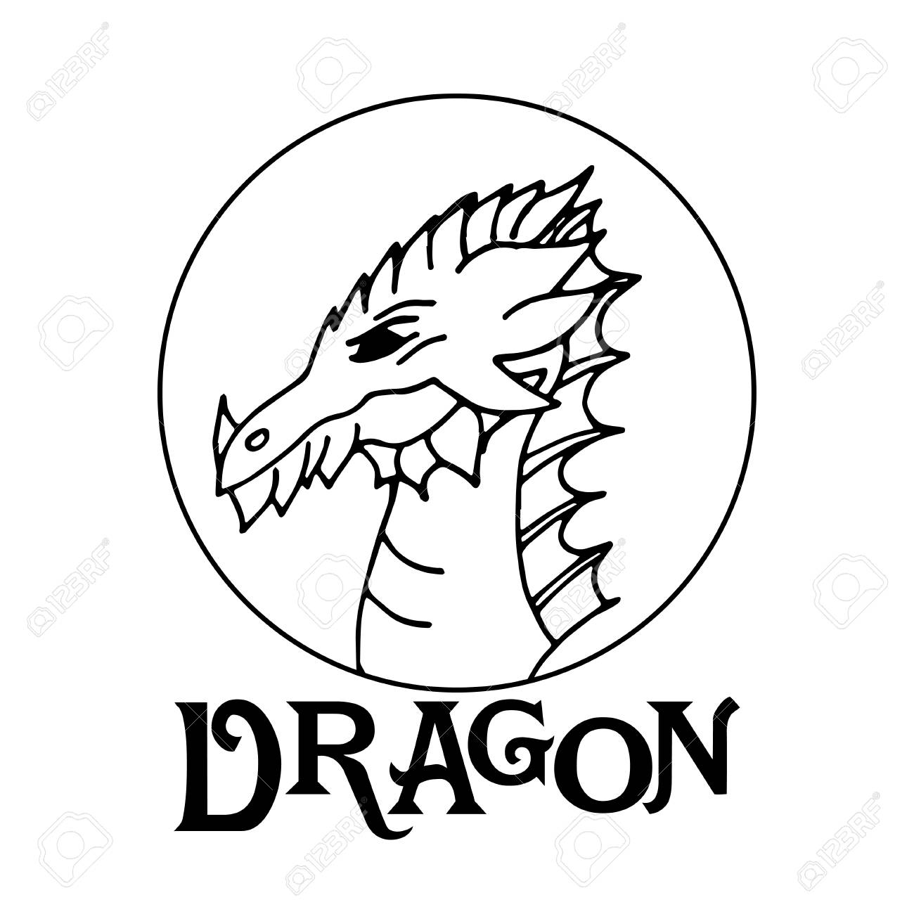 The Chinese Dragon The Symbol Of Feng Shui Royalty Free Cliparts
