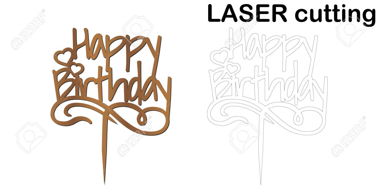 Amazing Sign Happy Birthday Cake Topper For Laser Or Milling Cut Funny Birthday Cards Online Alyptdamsfinfo