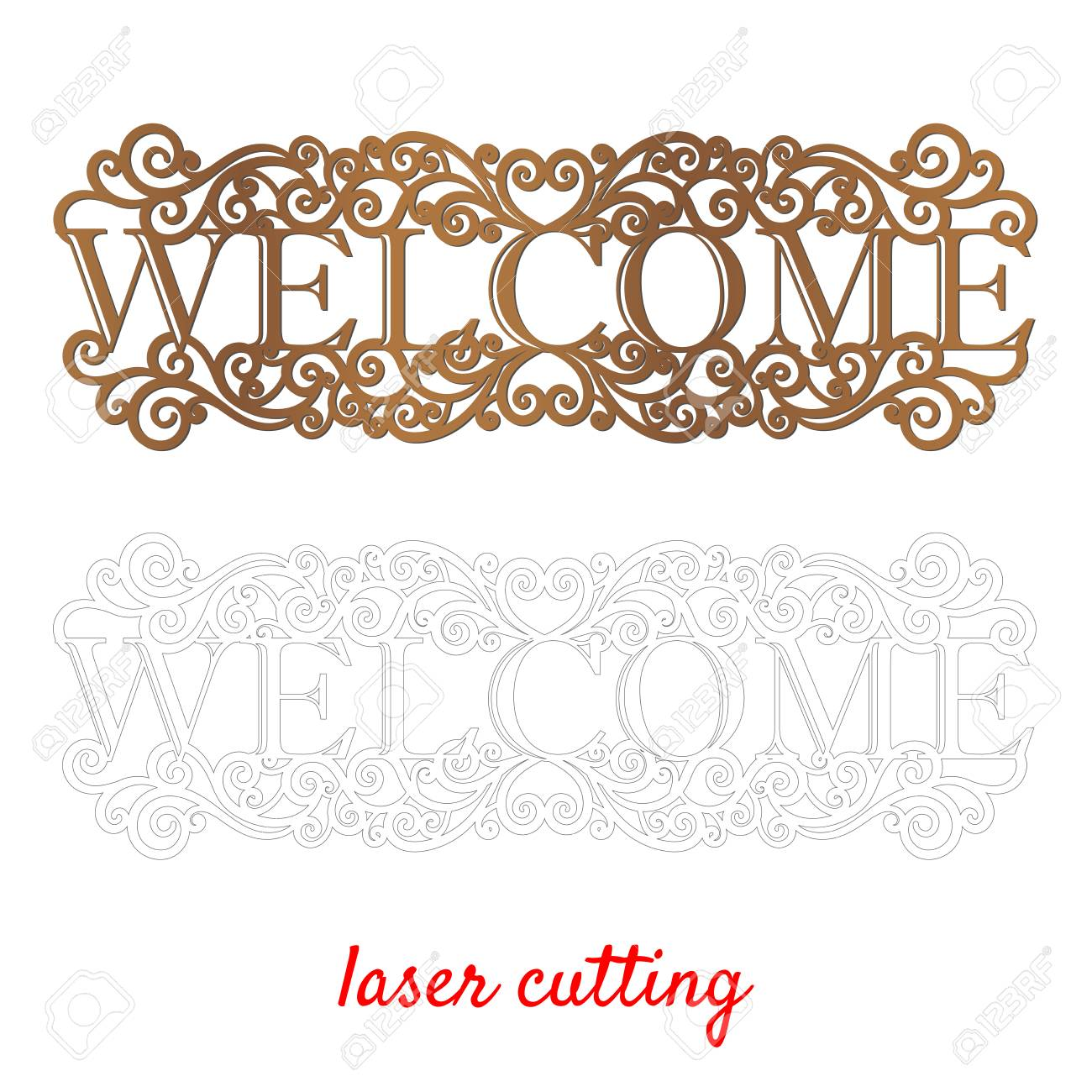 image relating to Welcome Sign Template referred to as Welcome. Indicator for house or place of work. Template laser chopping device..