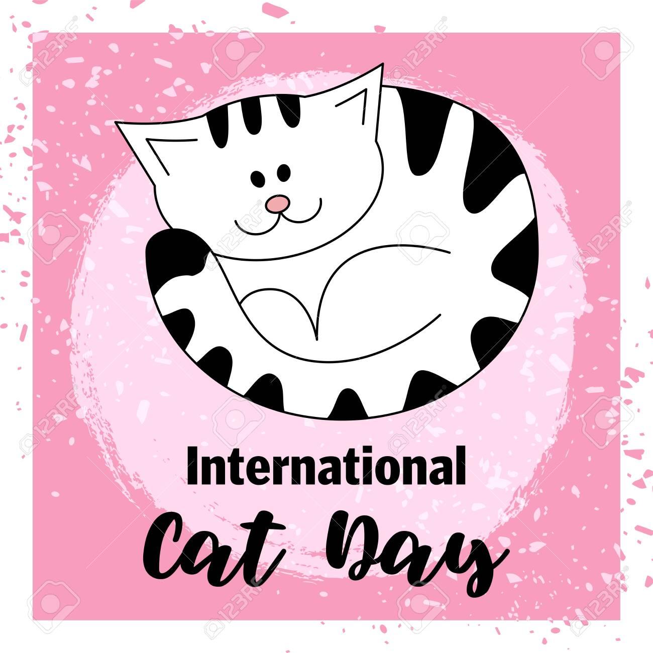 Download International Cat Day / International Dog Day / Vector Cards Design