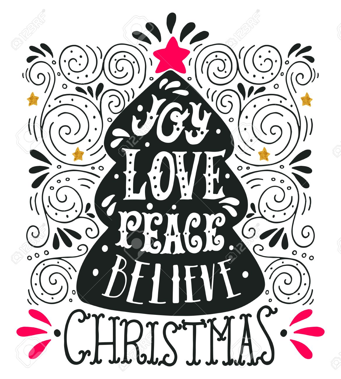 Peace Love Joy Quotes Joy Love Peace Believequotemerry Christmas Hand Lettering