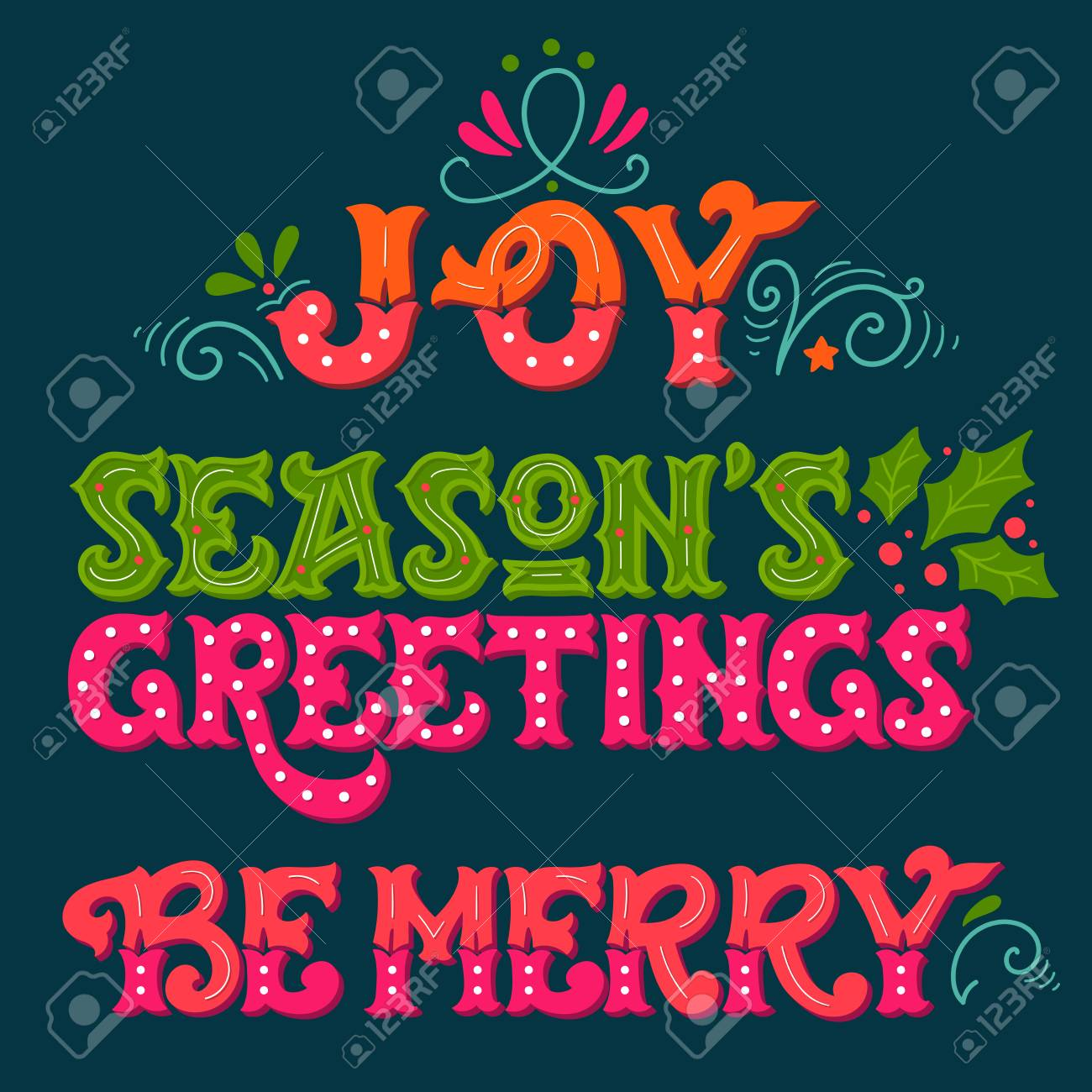 Joy seasons greetings be merry collection of hand drawn winter seasons greetings be merry collection of hand drawn winter holiday sayings m4hsunfo