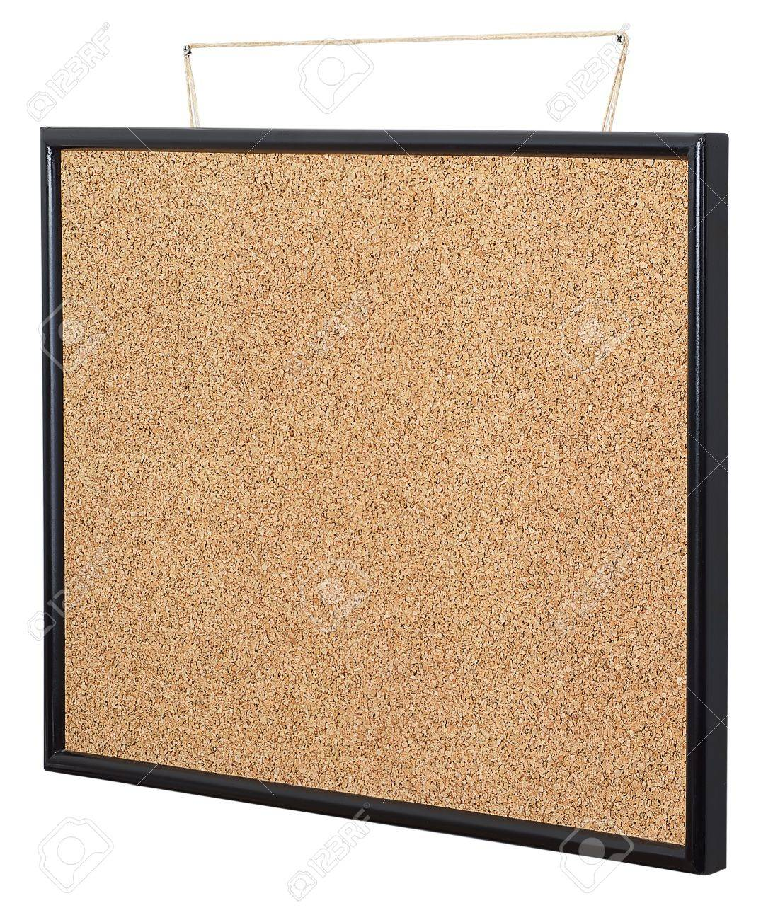 Empty cork board hanging Stock Photo - 15968245