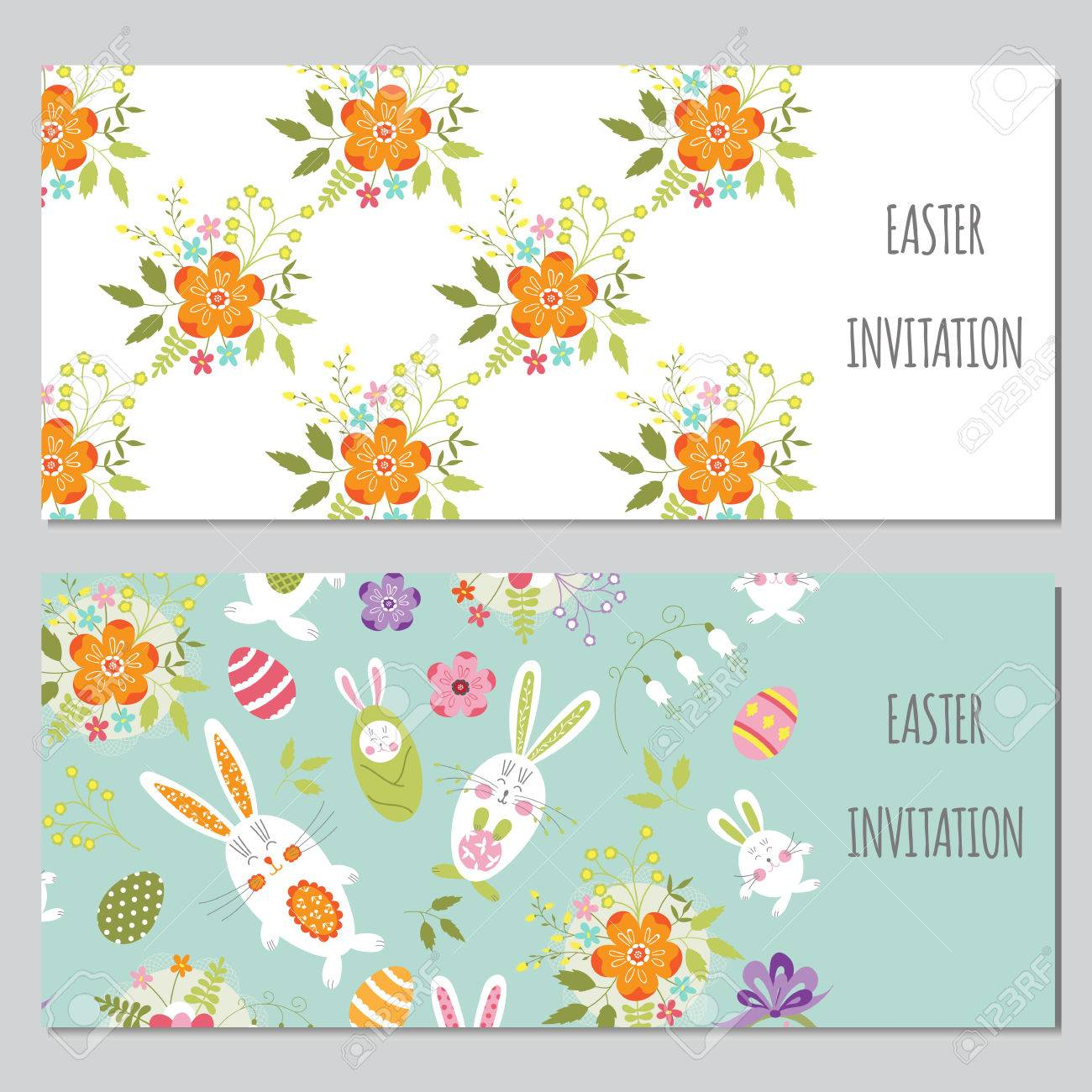 photo about Easter Stationery Printable referred to as Vector fixed of horizontal banner templates. Colourful spring printable..