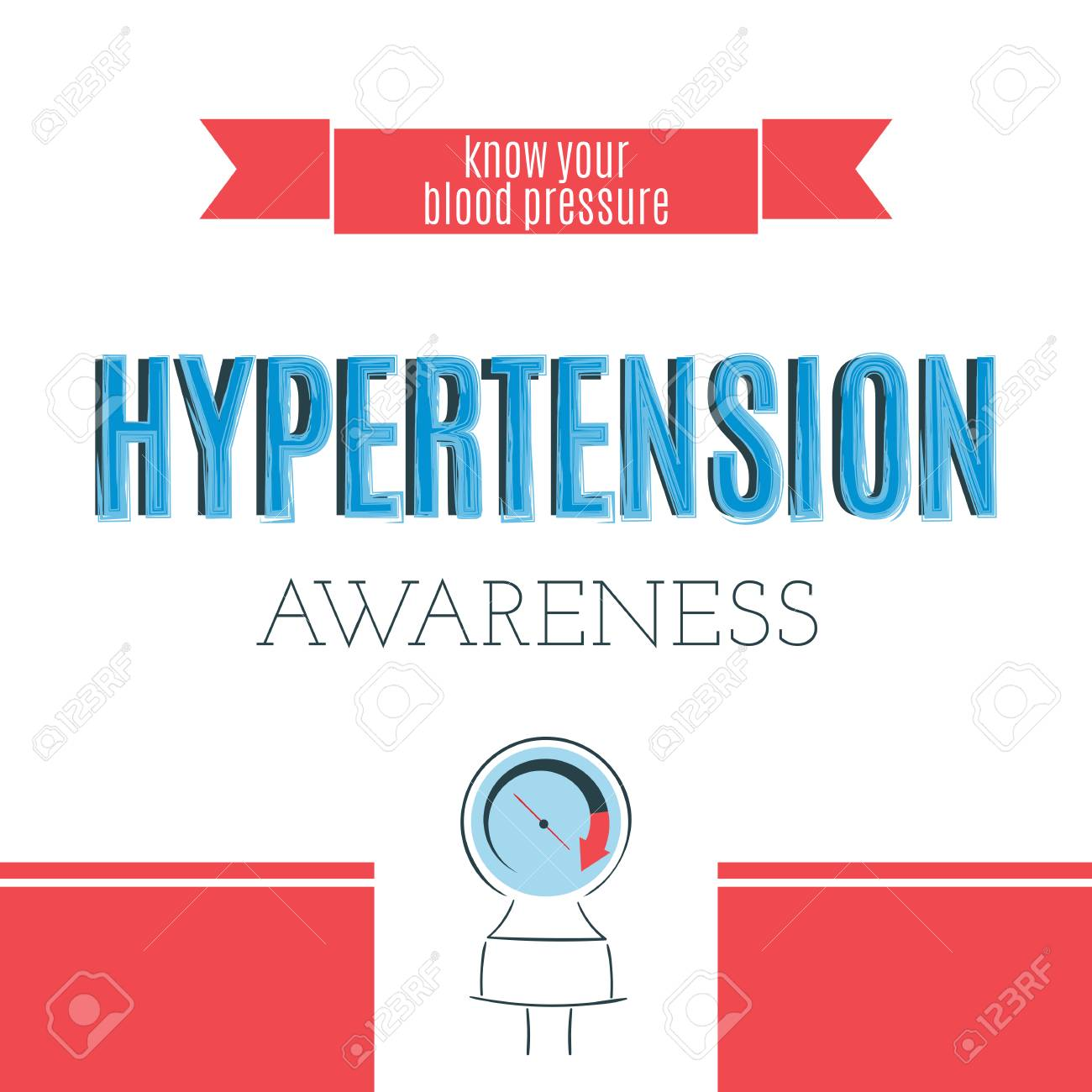 vector typography on white background card template retro style calligraphy world hypertension day