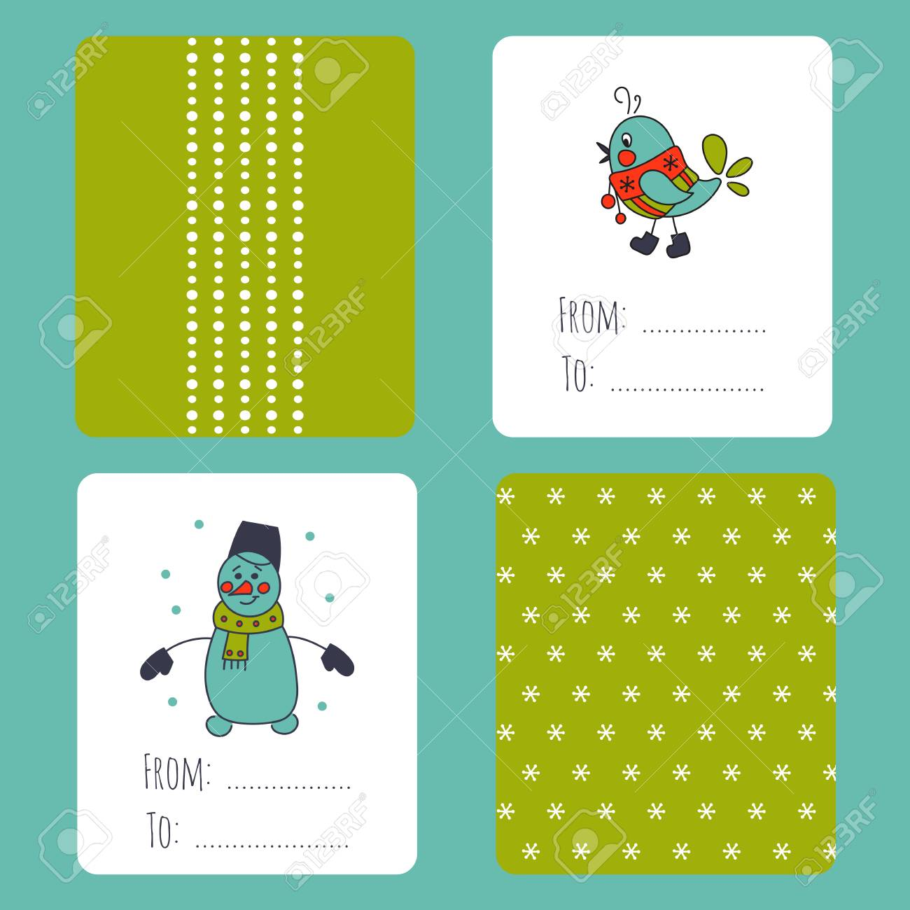 Set of winter small card templates collection for christmas set of winter small card templates collection for christmas and new year holidays for m4hsunfo