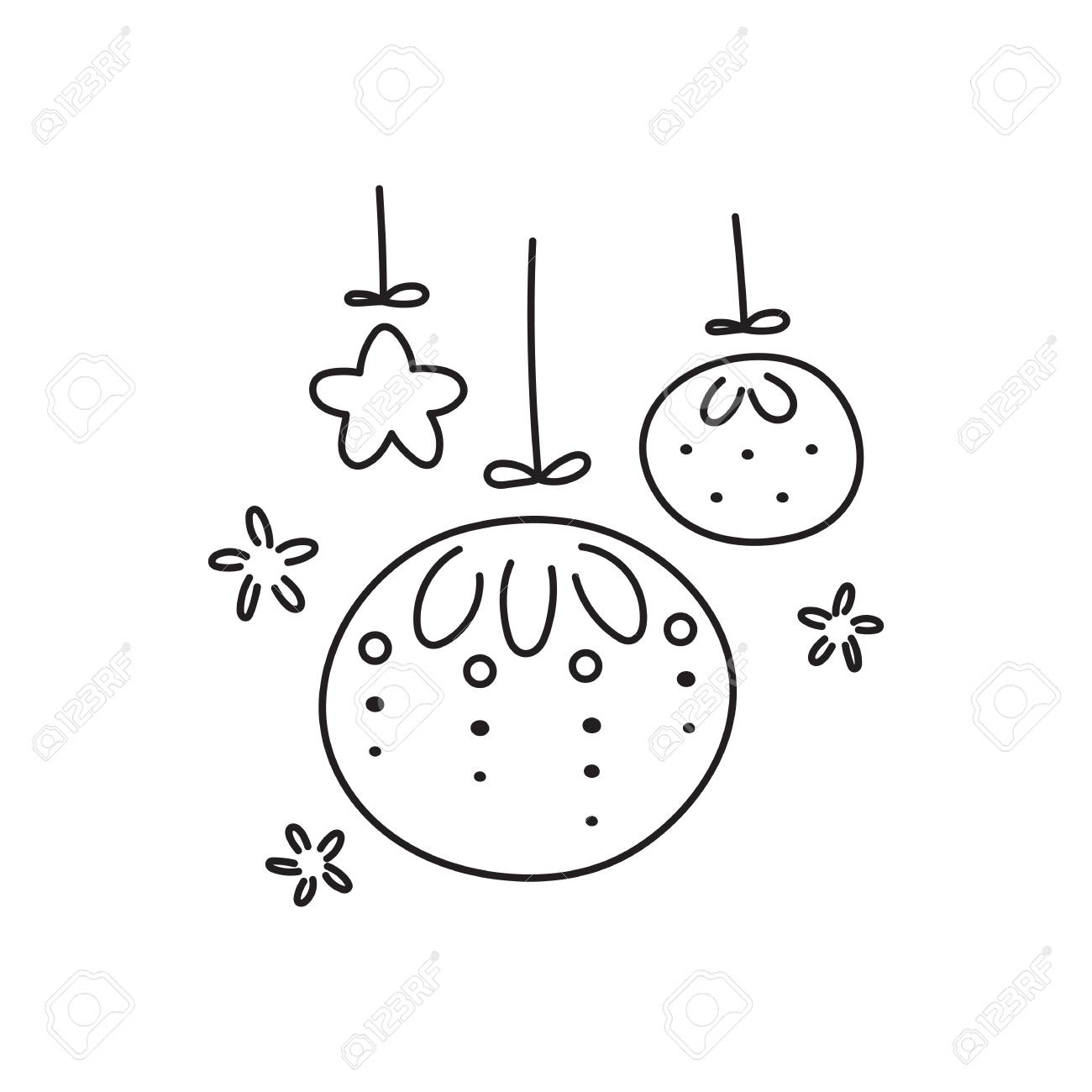 手薄い線アイコンベクトルのロゴのテンプレートのイラスト冬の休日の