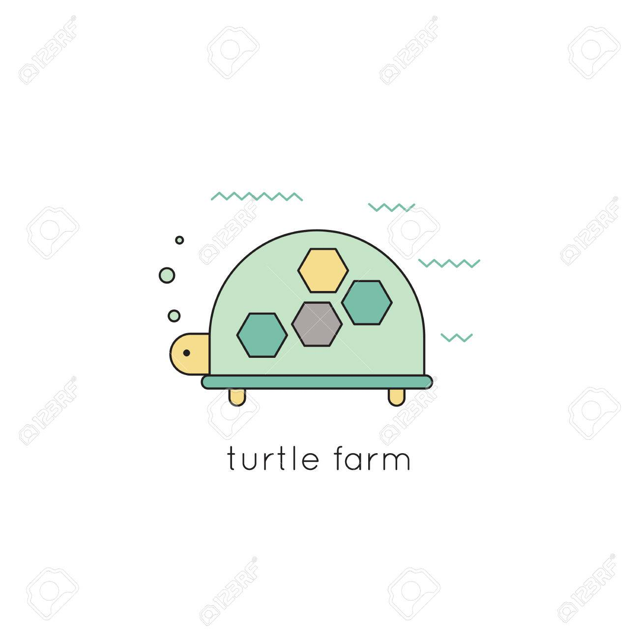 Turtle vector thin line icon colored isolated symbol logo turtle vector thin line icon colored isolated symbol logo template element for travel biocorpaavc