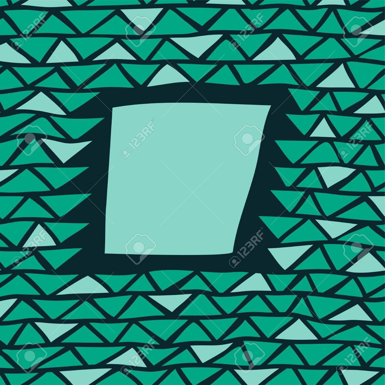 Marco Triángulo Abstracto Ilustraciones Vectoriales, Clip Art ...