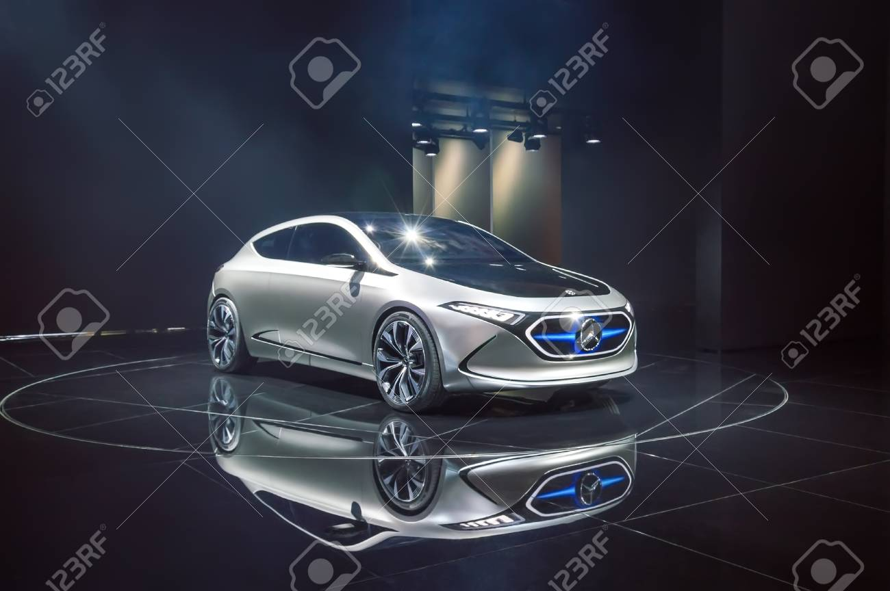 FRANKFURT, GERMANY - SEP 17, 2017: Mercedes-Benz Concept EQA.. Stock ...
