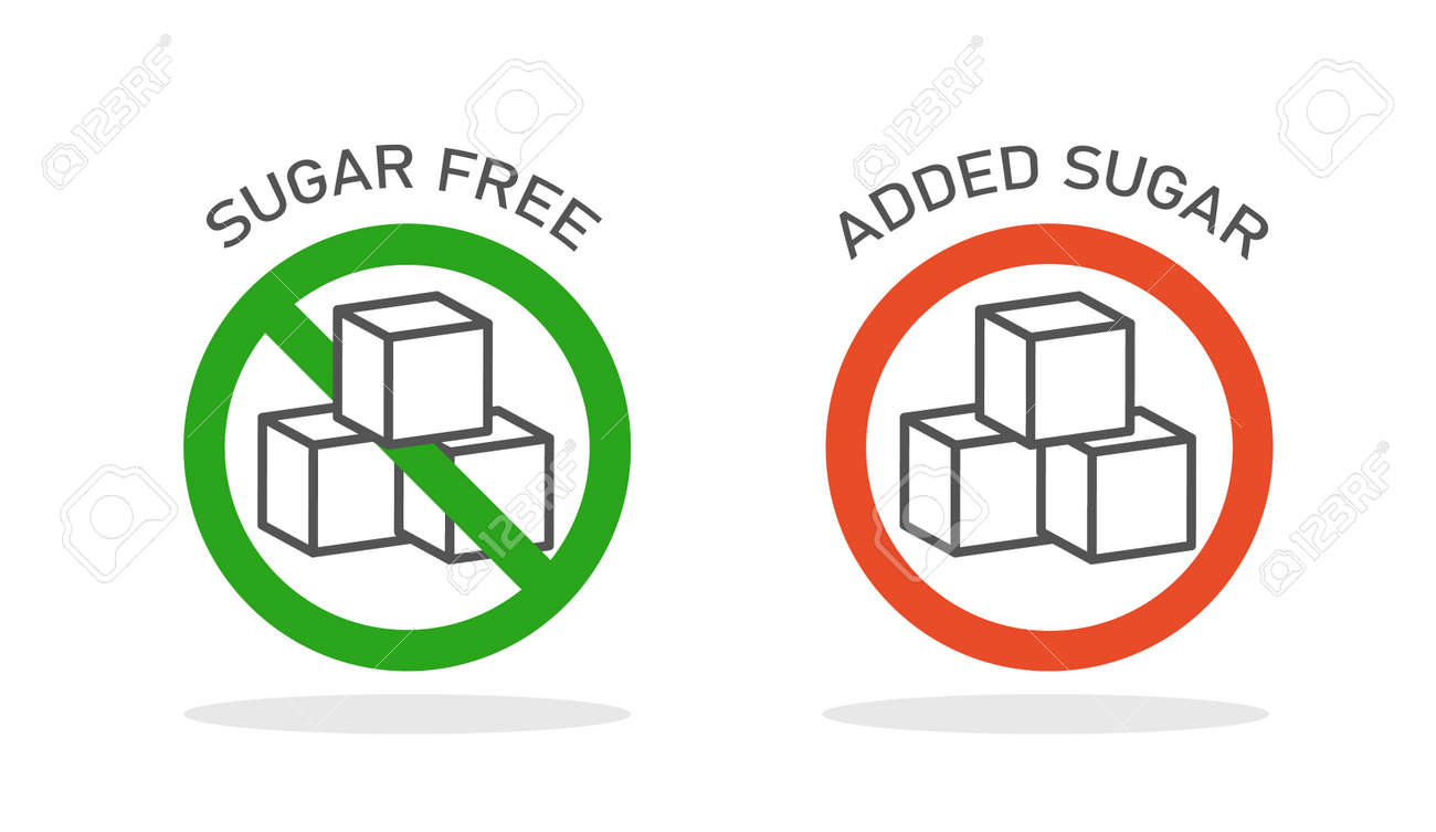 Sugar free label. Product packaging template. Icon design. Vector illustration isolated on white background. - 167217055