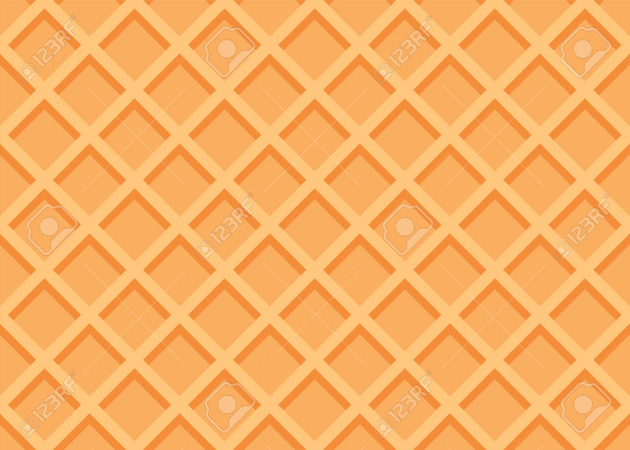 Seamless waffle texture or pattern. Sweet ice cream background. Vector illustration - 167865634