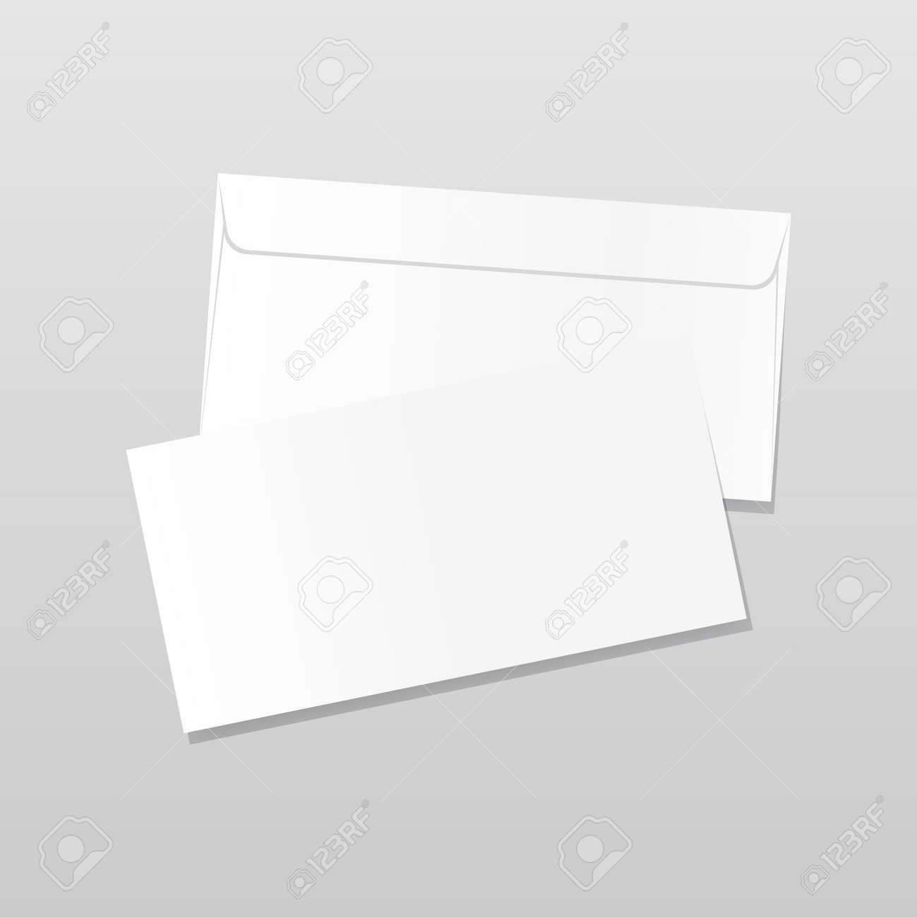 Front and back side envelope mock up. Realistic blank letter template. Paper C4 white envelopes. Vector illustration isolated on transparent background. - 169877666