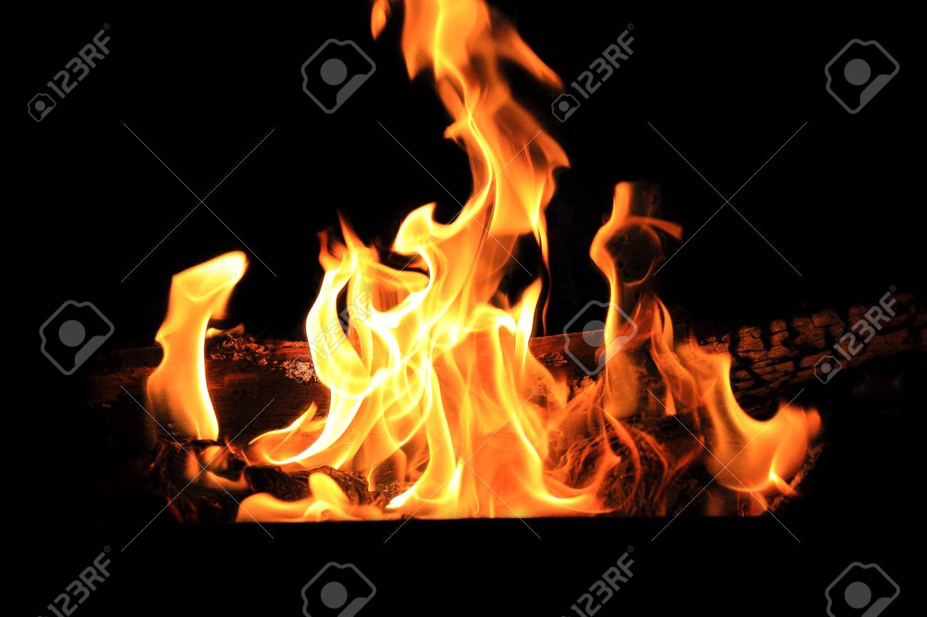 Beautiful picture with red flame on the black background Stock Photo - 10912702