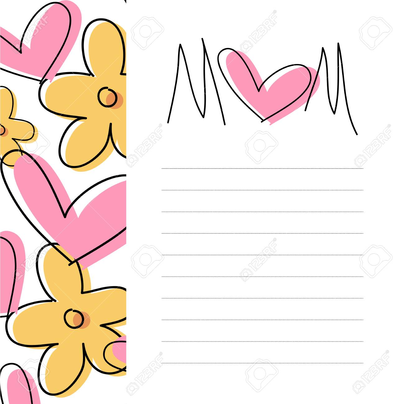 mother s day card mother s day card message royalty free