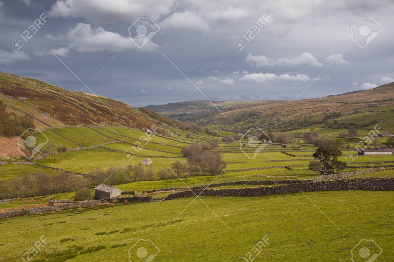 Swaledale in the Yorkshire Dales National Park Stock Photo - 14364353