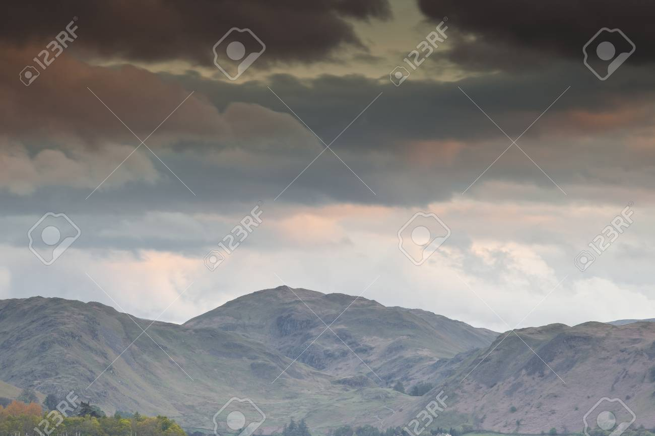 The fells of the Lake District overlooking Ullswater Stock Photo - 14364637