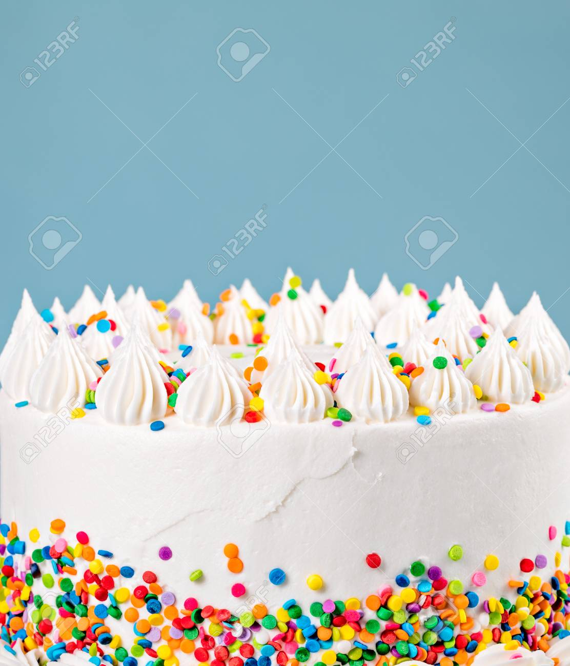 Phenomenal Side Of A Vanilla Buttercream Birthday Cake With Colorful Funny Birthday Cards Online Overcheapnameinfo