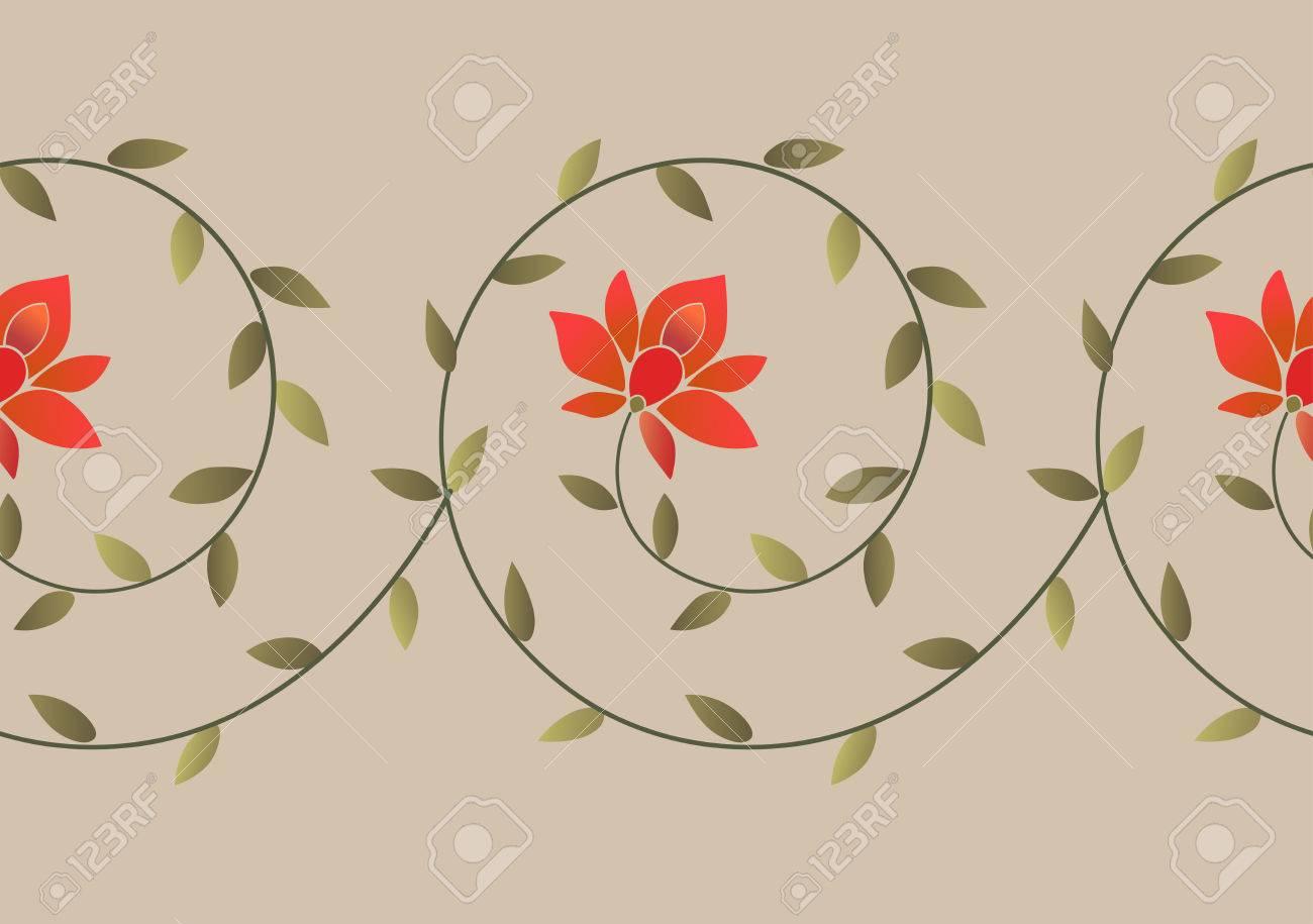 Bordado étnico Patrón De Borde Floral. Bordado Elemento De Diseño De ...