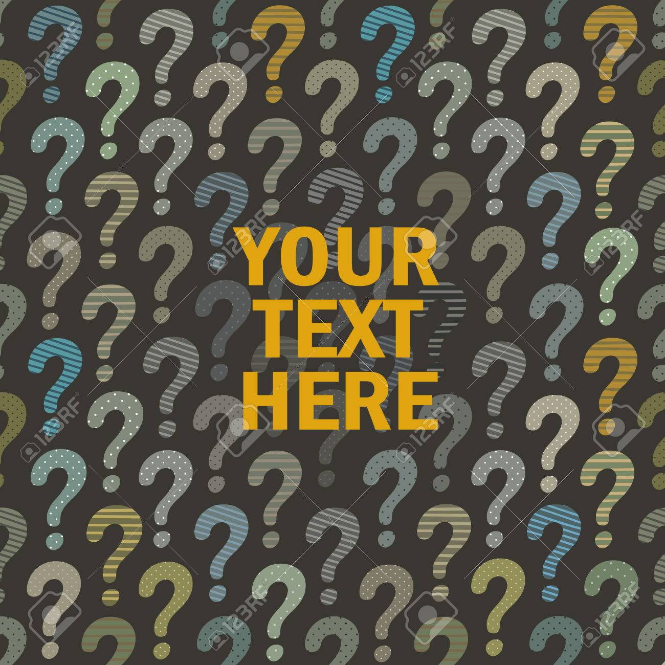 Question Mark Background With Place For Your Text Or Logo Vector ...