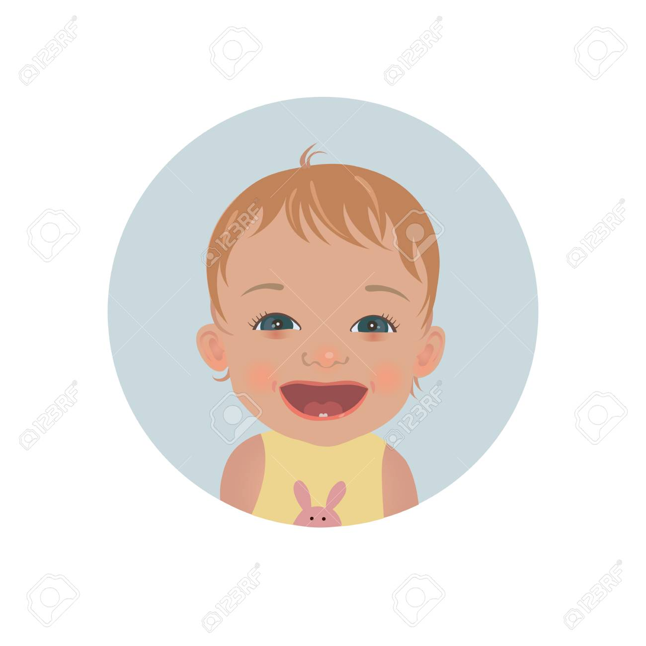 happy baby emoticon smiling child emoji cute cheerful toddler