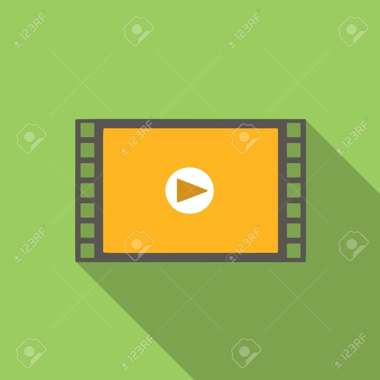 icone plat vidéo pour le web ou appareil mobile Banque d'images - 47328519