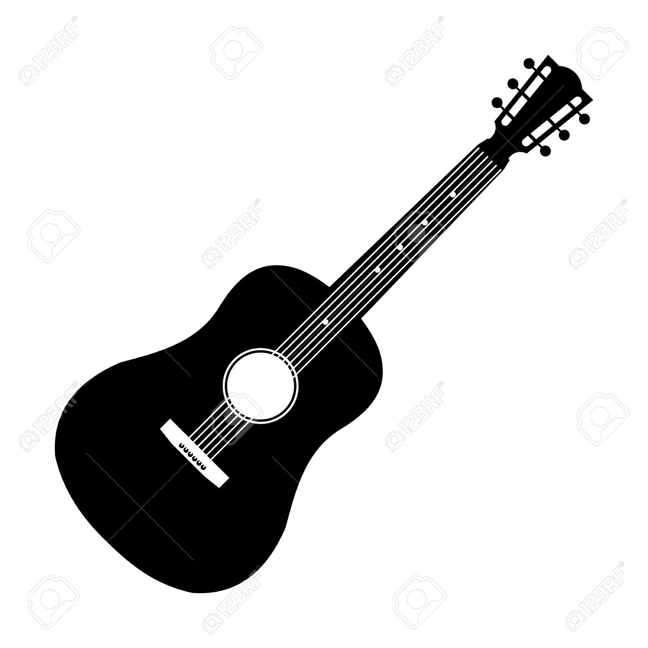 Acoustic Guitar Black Icon Simple Symbol On A White Background