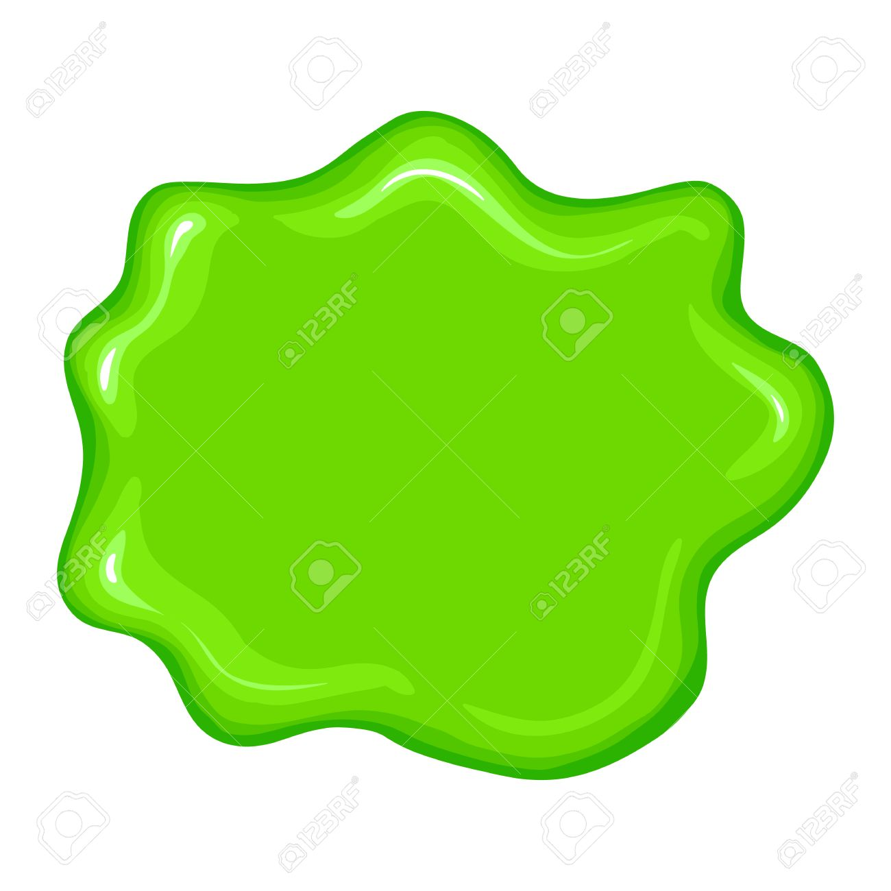 Best Green Slime Sign Isolated On A White Background Royalty Free