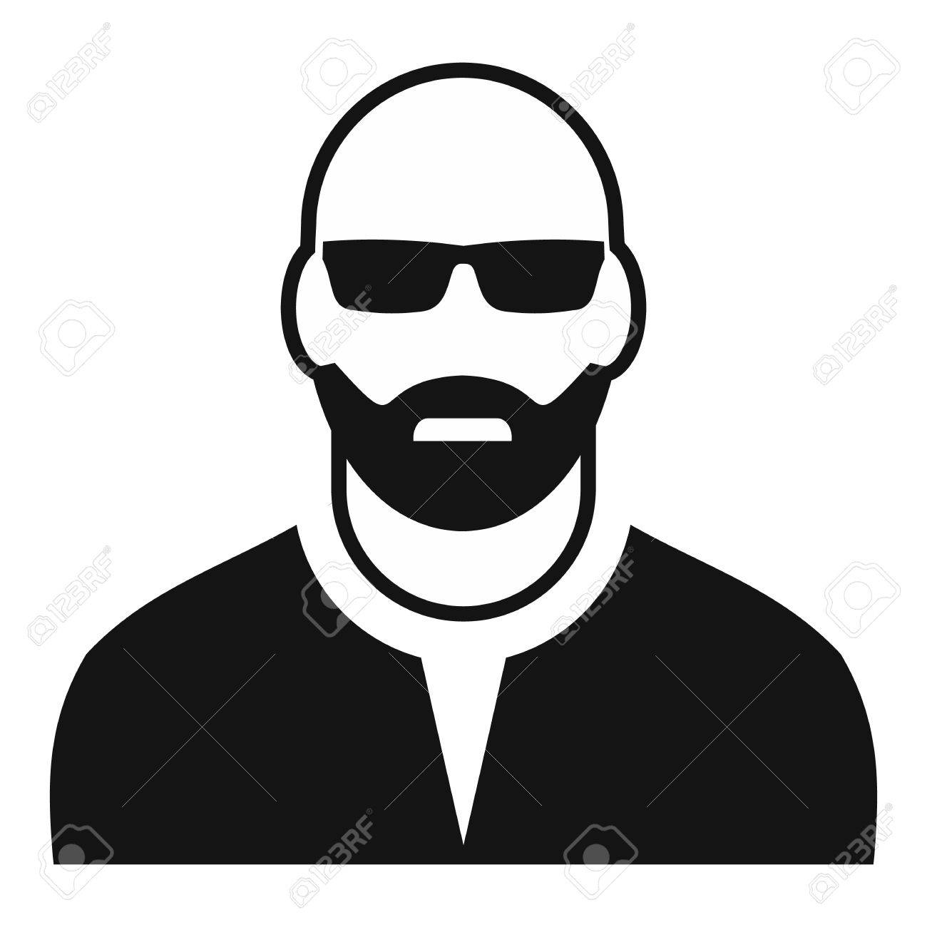 man with glasses avatar simple icon for web and mobile devices
