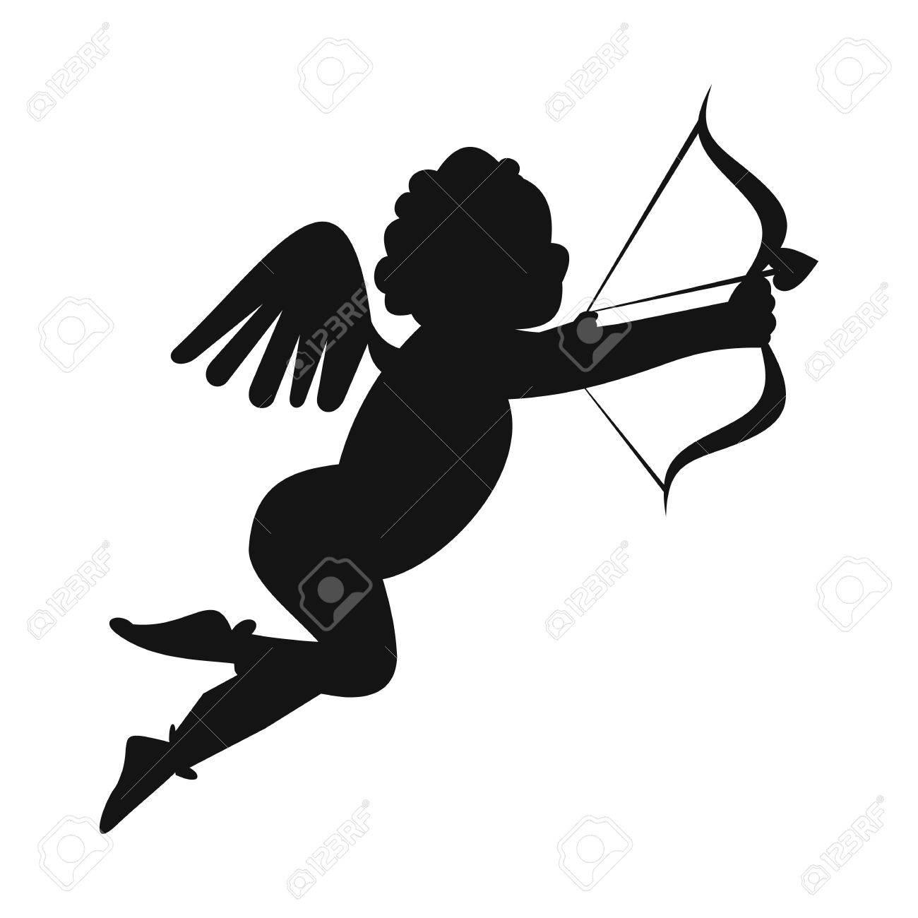 valentine day cupid simple icon love angel modern symbol royalty