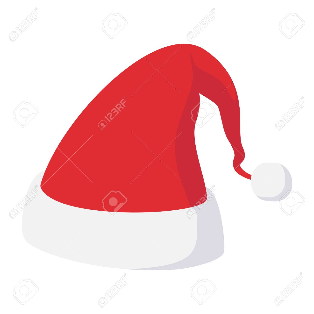 Christmas Hat Cartoon Icon Isolated On White Background Royalty Free Cliparts Vectors And Stock Illustration Image 50177755