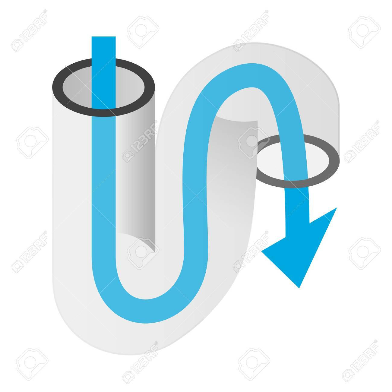 Pipe of sink isometric 3d icon on a white background - 50177464