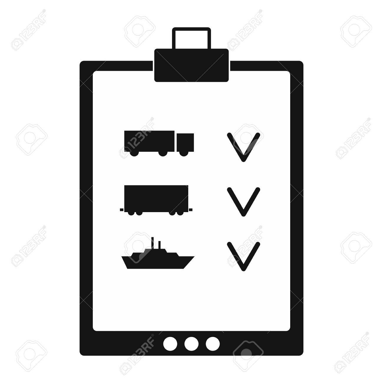 notepad notebook with to do list black simple icon on a white background stock vector