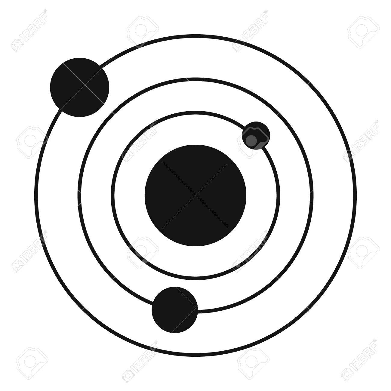solar system black simple icon isolated on white background royalty rh 123rf com planets in our solar system clipart planets in our solar system clipart