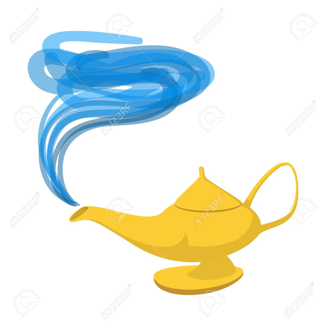 Lamp Aladdin Cartoon Icon. Magic Symbol On A White Background ... for Genie Icon  193tgx