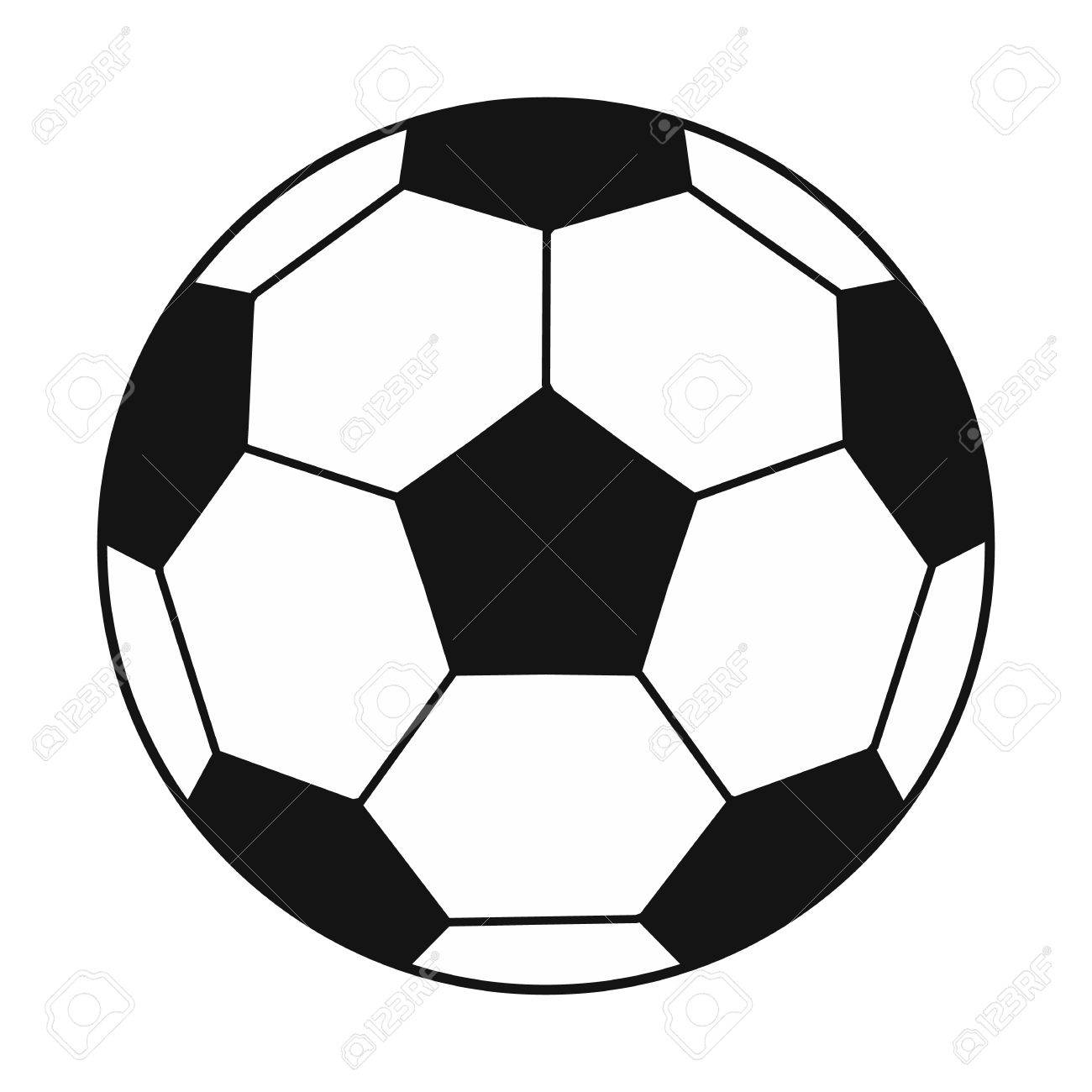 soccer ball black simple icon isolated on white background royalty free  cliparts, vectors, and stock illustration. image 50752187.  123rf