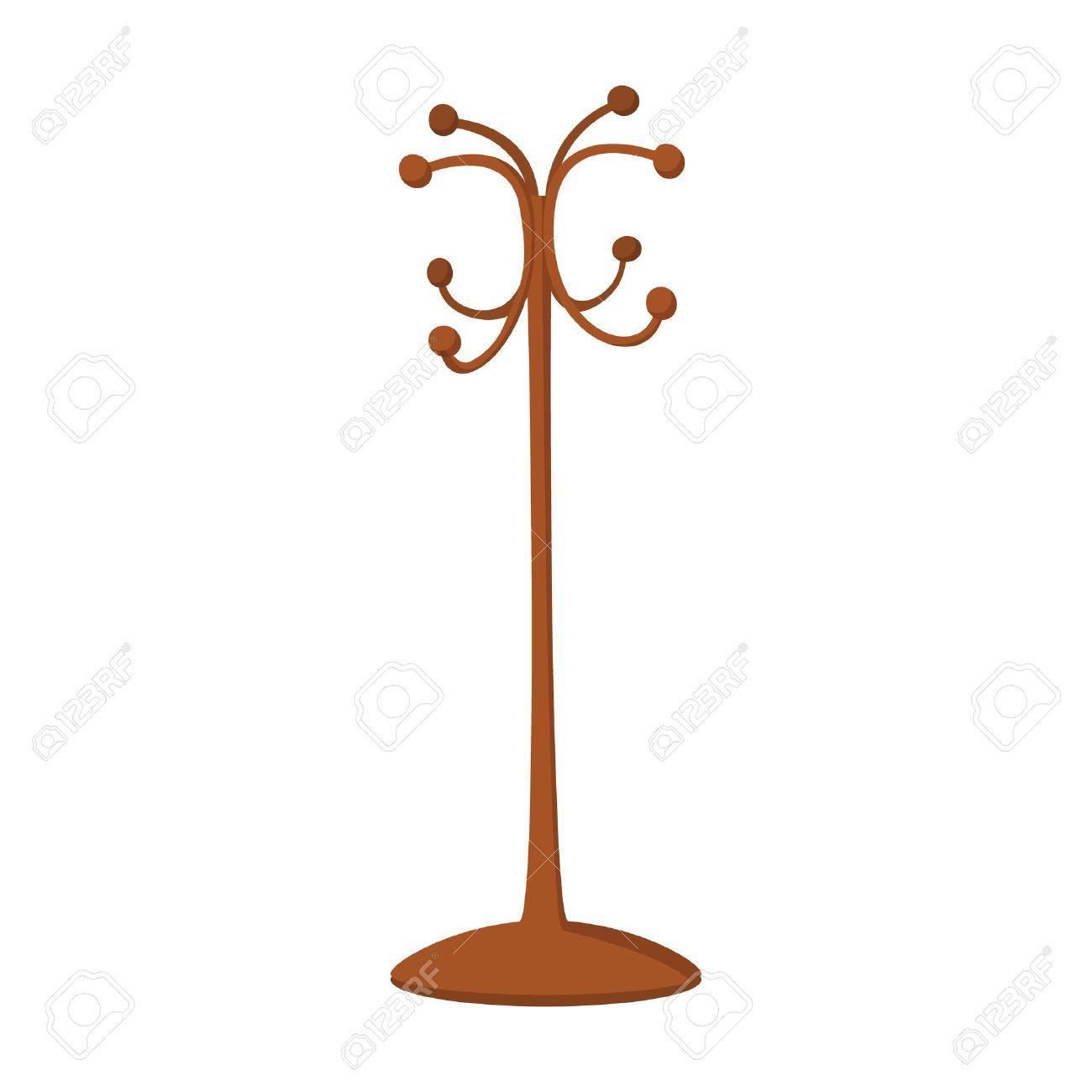 Wooden coat rack cartoon icon on a white background royalty free wooden coat rack cartoon icon on a white background stock vector 51175911 buycottarizona