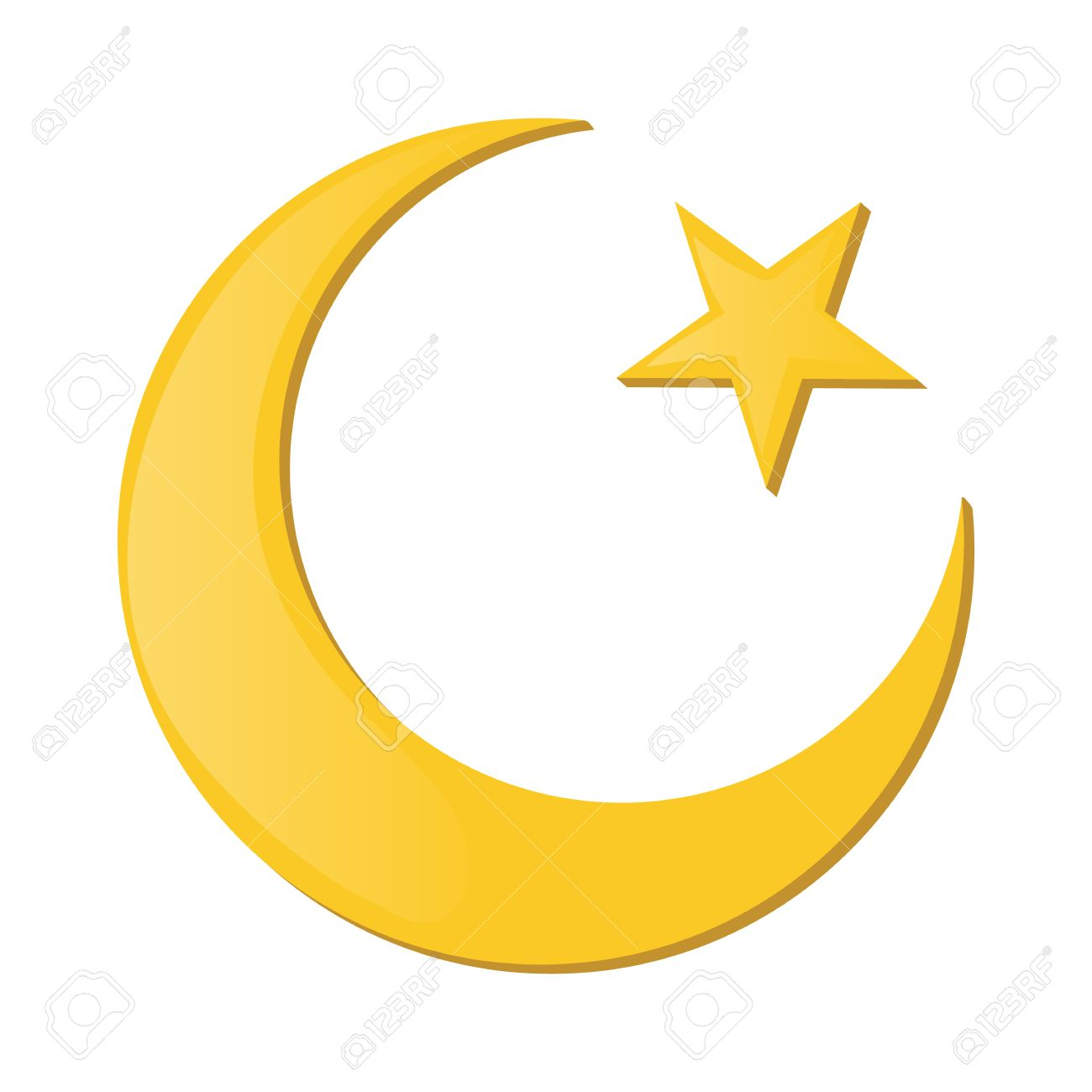 Crescent and star cartoon icon on a white background islam symbol crescent and star cartoon icon on a white background islam symbol stock vector 51175920 biocorpaavc
