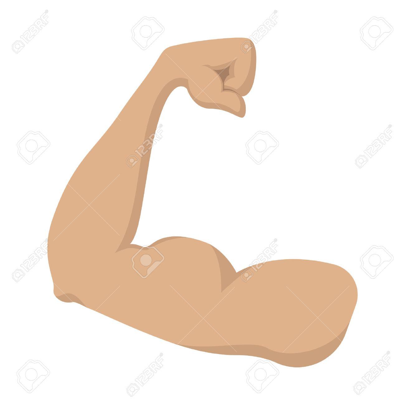 Hermosa Muscular Del Brazo De Dibujos Animados Ideas - Anatomía de ...