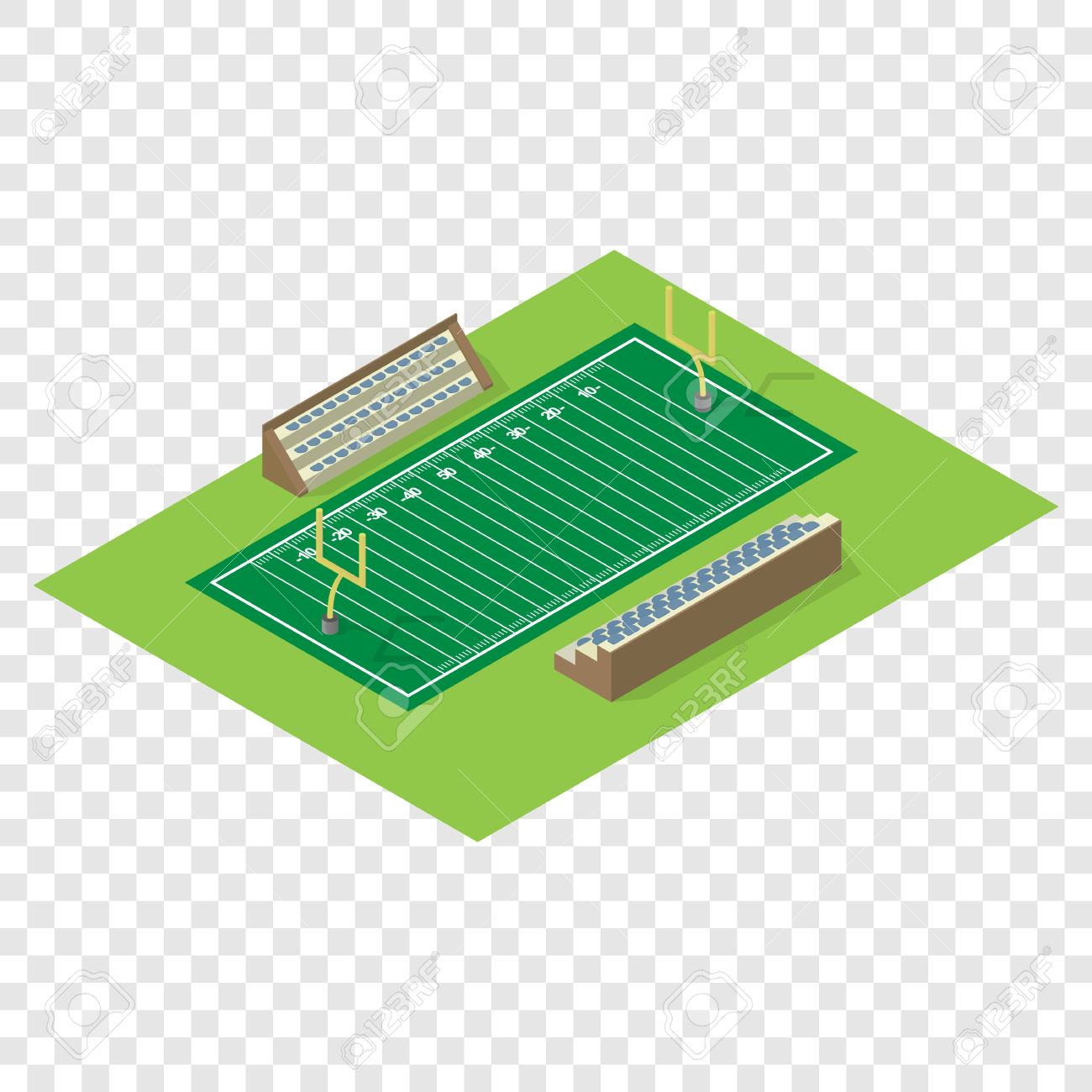 Isometric American Football Field On Transparent Background Royalty Free Cliparts Vectors And Stock Illustration Image 51730524