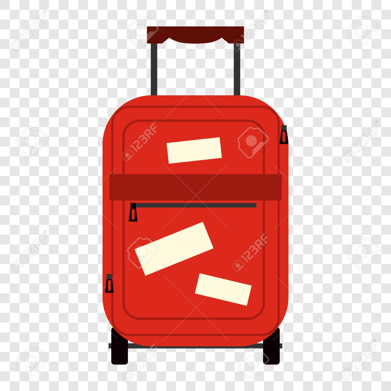suitecase flat icon bag tourists on transparent background royalty
