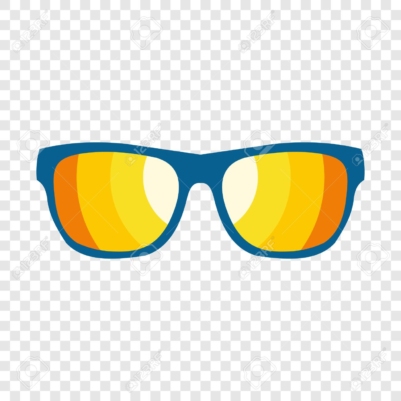 Sunglasses icon in flat style on transparent background - 51730559