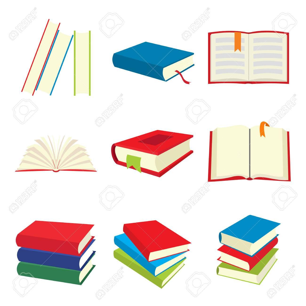 icônes Book Set isolé sur fond blanc Banque d'images - 51730680