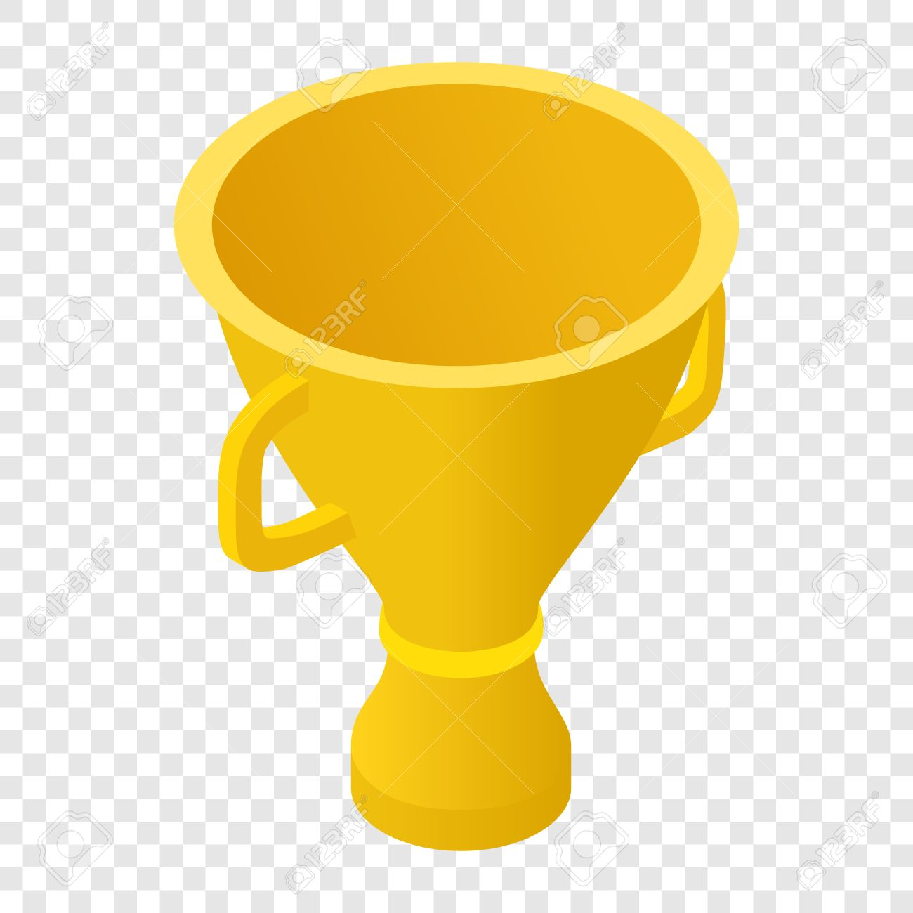Trophy Cup Isometric 3d Icon On Transparent Background Stock Vector