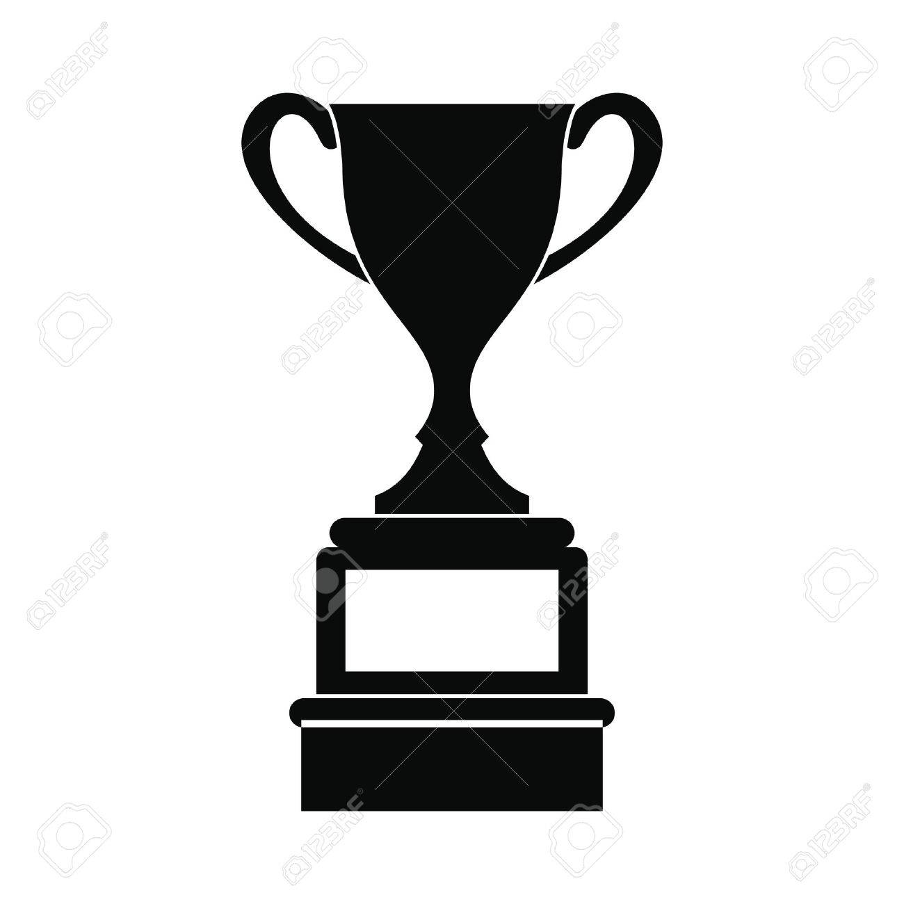 Sports cup black simple icon isolated on white background Banque d'images - 51646734