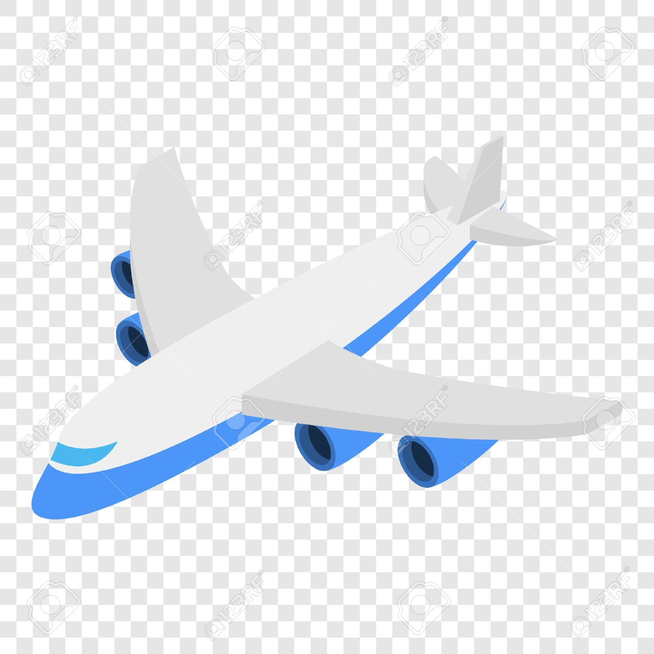 Plane Isometric 3d Icon On Transparent Background Royalty Free